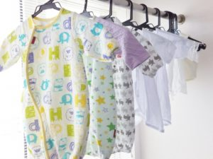 赤ちゃんの衣類の洗濯物